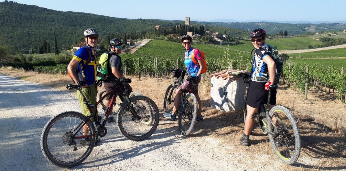 off-road beginner bike tours in Tuscany