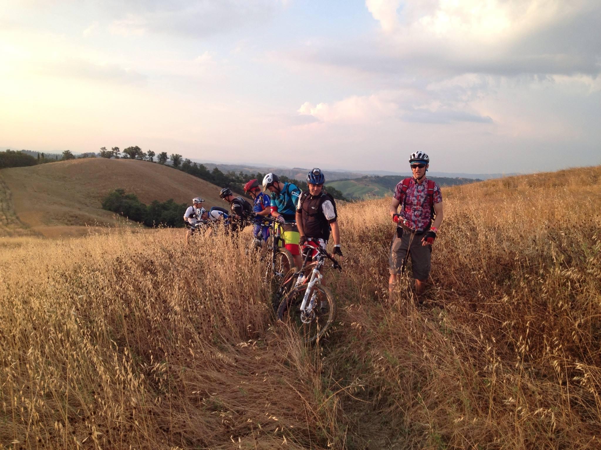 Siena advanced mountain bike tour